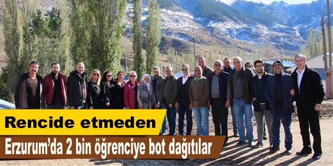 Erzurum'da rencidesiz yardım