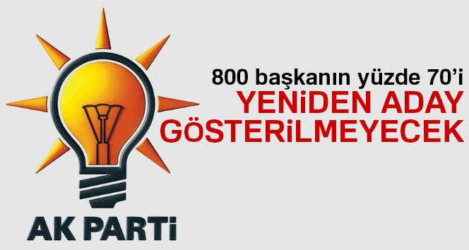 560 AK Partili başkan aday yapılmayacak