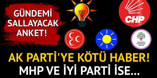 Gündemi sallayacak anket! AK Parti'ye kötü haber!