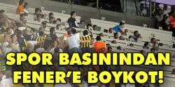 Fenerbahçe'ye boykot!