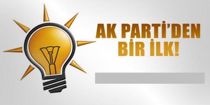 AK Parti'den yerel seçimlerde bir ilk!