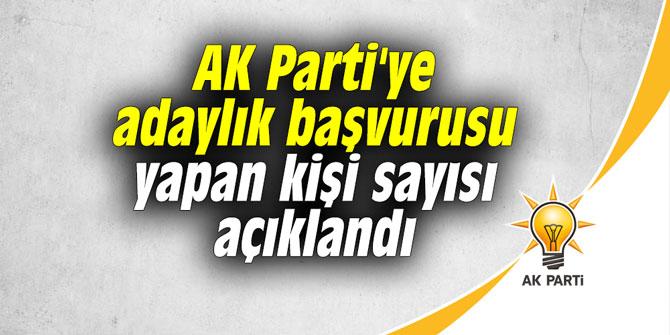 AK Parti'ye adaylık başvurusu yapan kişi sayısı belli oldu