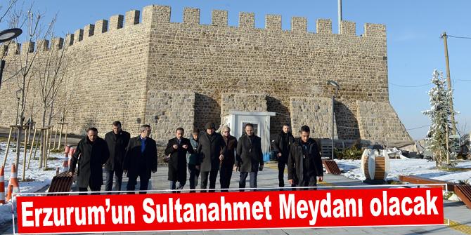 Erzurum'un Sultanahmet Meydanı olacak!