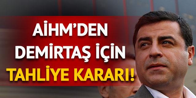 AİHM Selahattin Demirtaş kararını açıkladı: Tahliye edilmeli