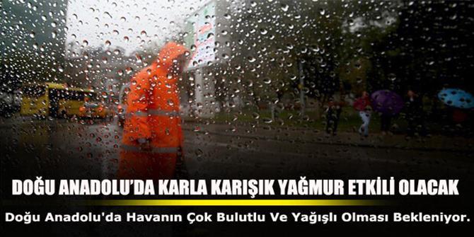 Doğu Anadolu'da kar yağışı ve yağmur etkili olacak