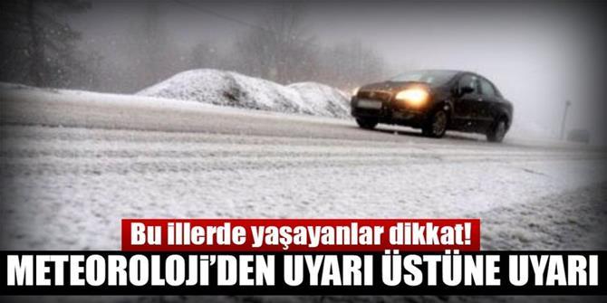 Doğu Anadolu için kar yağışı, sis ve buzlanma uyarısı