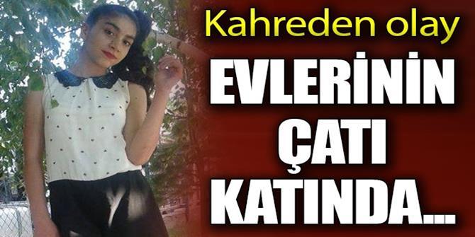 Erzurum'da 14 yaşındaki kız evinin çatısında asılı bulundu