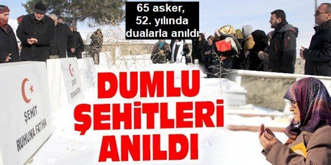 Erzurum'da patlamada şehit olan 65 asker, 52. yılda dualarla anıldı