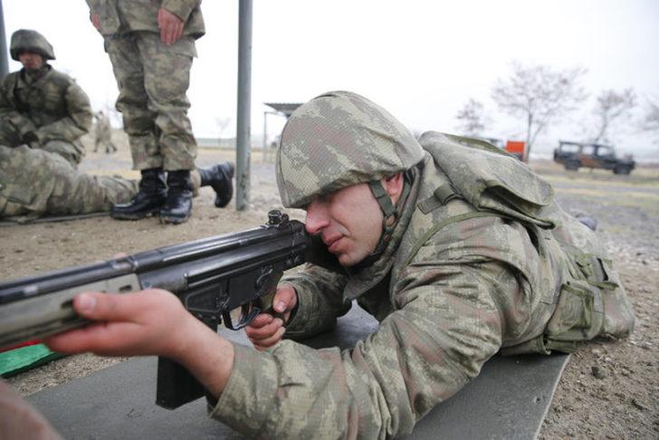 Bedelli askerlerin eğitimi görüntülendi