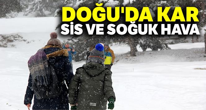 Doğu'da kar, sis ve soğuk hava