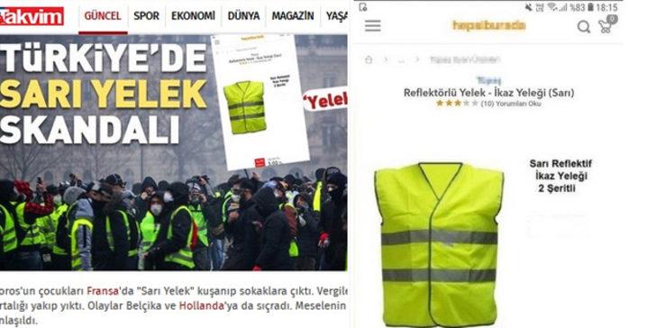 Takvim Hepsiburada'yı 'Sarı Yelek'lerde indirimle suçladı!