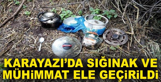 Erzurum'da sığınak içerisinde mühimmat ele geçirildi