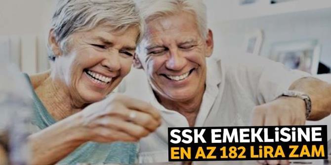 SSK emeklisine en az 182 TL zam