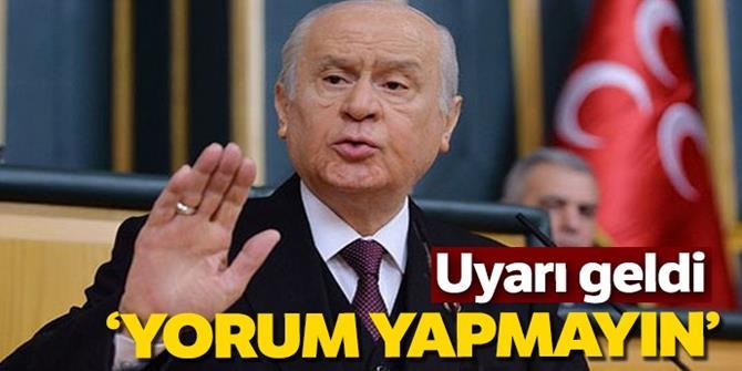MHP'den uyarı: Adaylarla ilgili yorum yapmayın!