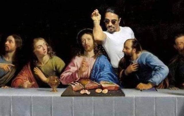 Nusret, İsa'nın tablosuna girince ortalık karıştı!