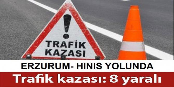 Erzurum'da kamyonet ile minibüs çarpıştı: 8 yaralı