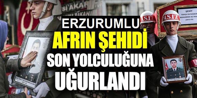Erzurumlu Şehit üsteğmen son yolculuğuna uğurlandı