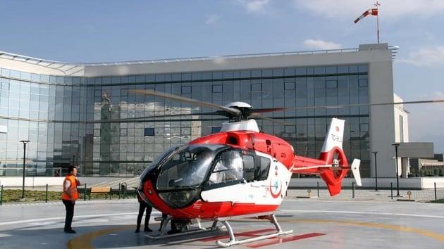 Erzurum'da Rahatsızlanan Hükümlü Ambulans Helikopterle Hastaneye Kaldırıldı