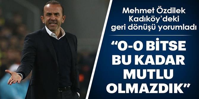 """Mehmet Özdilek: """"Gelecek adına güven kazandık"""""""