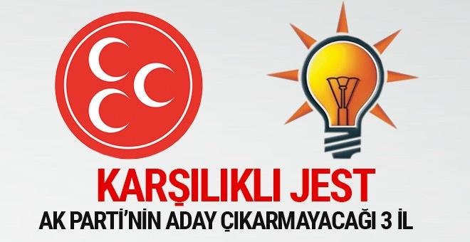 AK Parti hangi büyükşehirlerde MHP adayını destekleyecek?