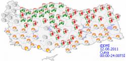 Erzurum'Da bugtn yağış var!
