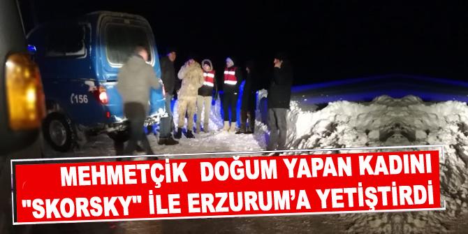 """Mehmetçik yeni doğum yapan kadının imdadına """"Skorsky"""" ile yetişti"""