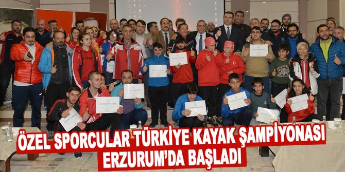 Özel Sporcular Türkiye Kayak Şampiyonası Erzurum'da başladı