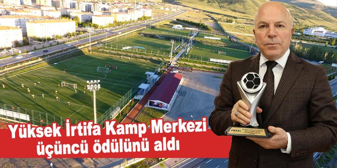Yüksek İrtifa Kamp Merkezi üçüncü ödülünü aldı