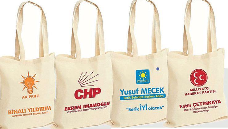 Seçim meydanlarının yıldızı: Bez çanta