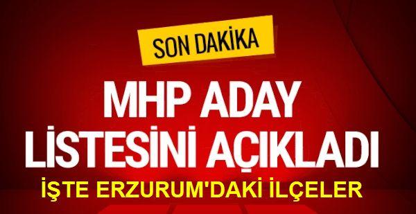 MHP 2019 yerel seçimleri belediye başkan adaylarını açıkladı