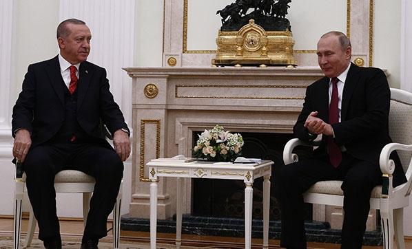 Moskova'da kritik zirve! Cumhurbaşkanı Erdoğan, Putin ile görüşüyor