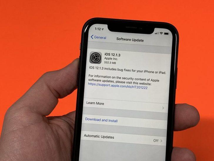 Apple yeni iOS güncellemesi 12.1.3'ü yayınladı