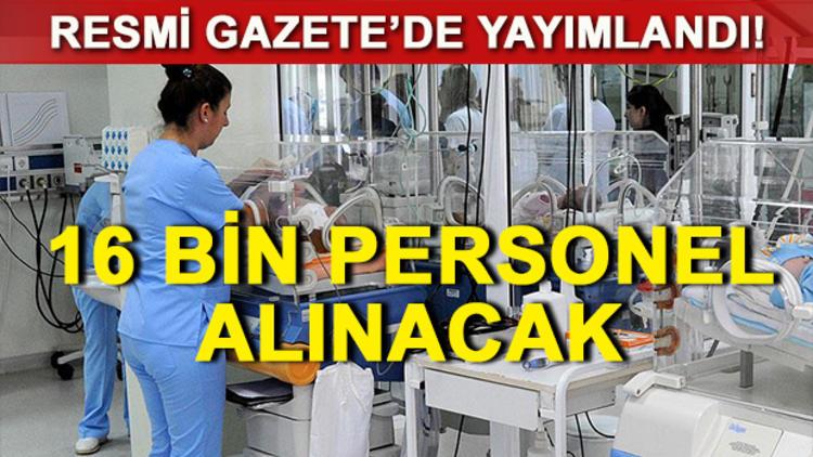 Sağlık Bakanlığı'ndan 16 bin kişilik sözleşmeli personel istihdamı