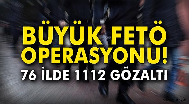 1112 kişi hakkında gözaltı kararı