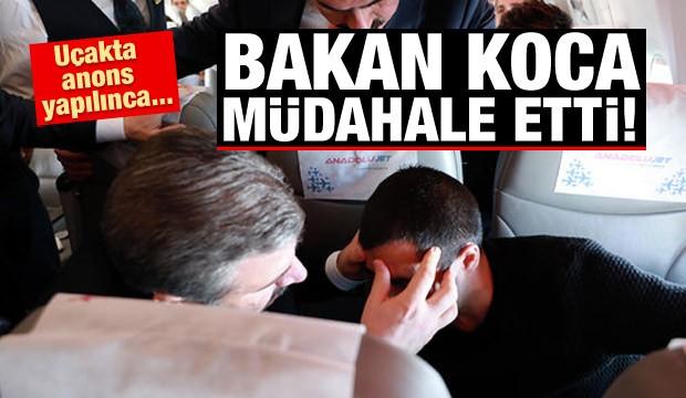 Sağlık Bakanı Fahrettin Koca'dan Fenalaşan Yolcuya Müdahale
