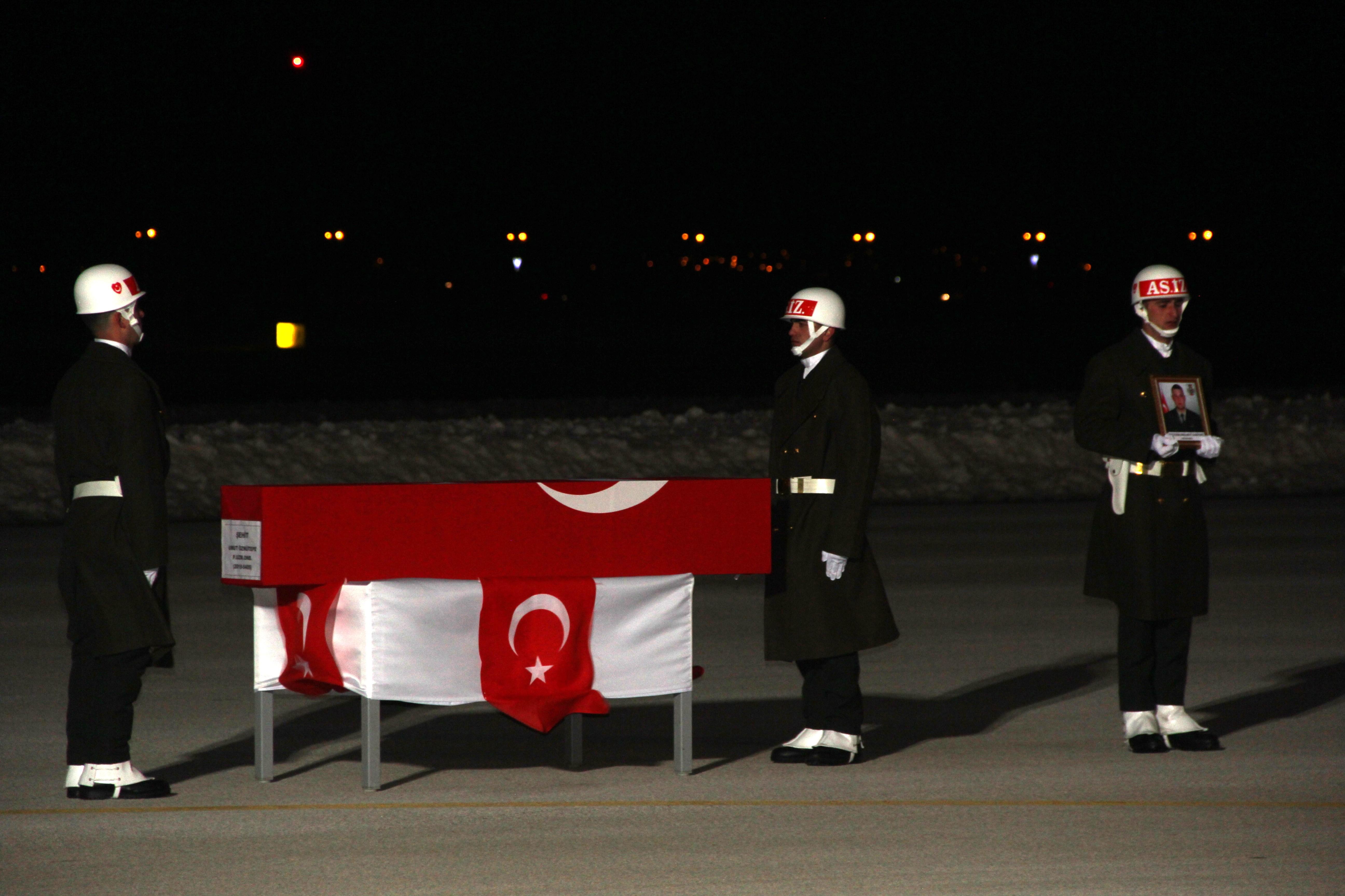 Afrin şehidinin cenazesi memleketi Erzurum'a getirildi