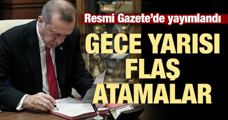 Cumhurbaşkanı Erdoğan'ın imzasıyla yayımlandı! Flaş atama kararı!