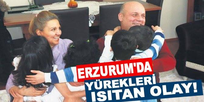 Erzurum'da yürekleri ısıtan olay!.