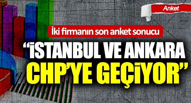 """İki firmanın son anket sonucu: """"İstanbul ve Ankara CHP'ye geçiyor"""""""