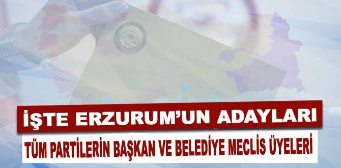 Erzurum'da Geçici aday listeleri seçim kurullarında