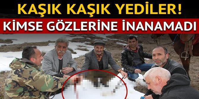 Erzurum'da Bir Garip Olay! Atlarla 'Karlı Pekmez' Yemeye Gittiler