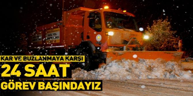 Doğu Anadolu'da 6 ilde ekiplerin yoğun kar mesaisi