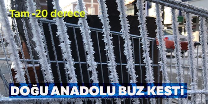 Doğu Anadolu buz tuttu:
