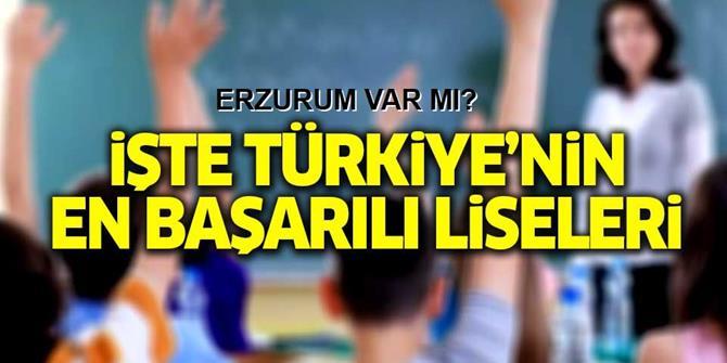 Türkiye'nin YGS'de en başarılı liselerinin listesi hazırlandı