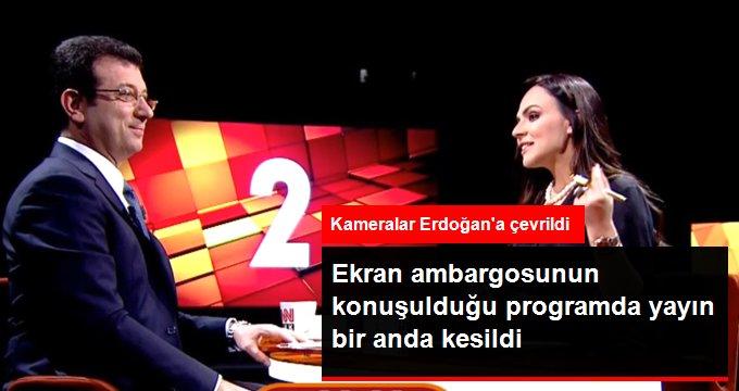 CNN Türk'te Ekrem İmamoğlu'nun konuşması yarıda kesildi