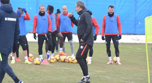 Erzurumspor Trabzonspor maçı hazırlıklarını sürdürdü
