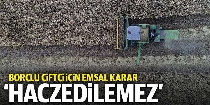 Borçlu çiftçi için emsal karar: Traktörü haczedilemez