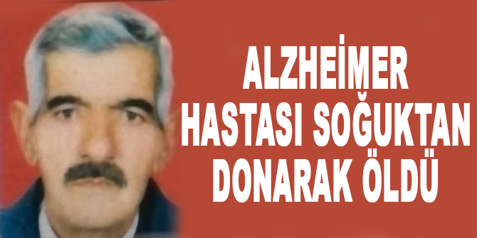 Alzheimer hastası soğuktan donarak öldü