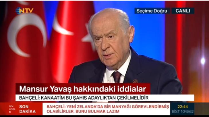 MHP Lideri Devlet Bahçeli'den canlı yayında Mansur Yavaş açıklaması!