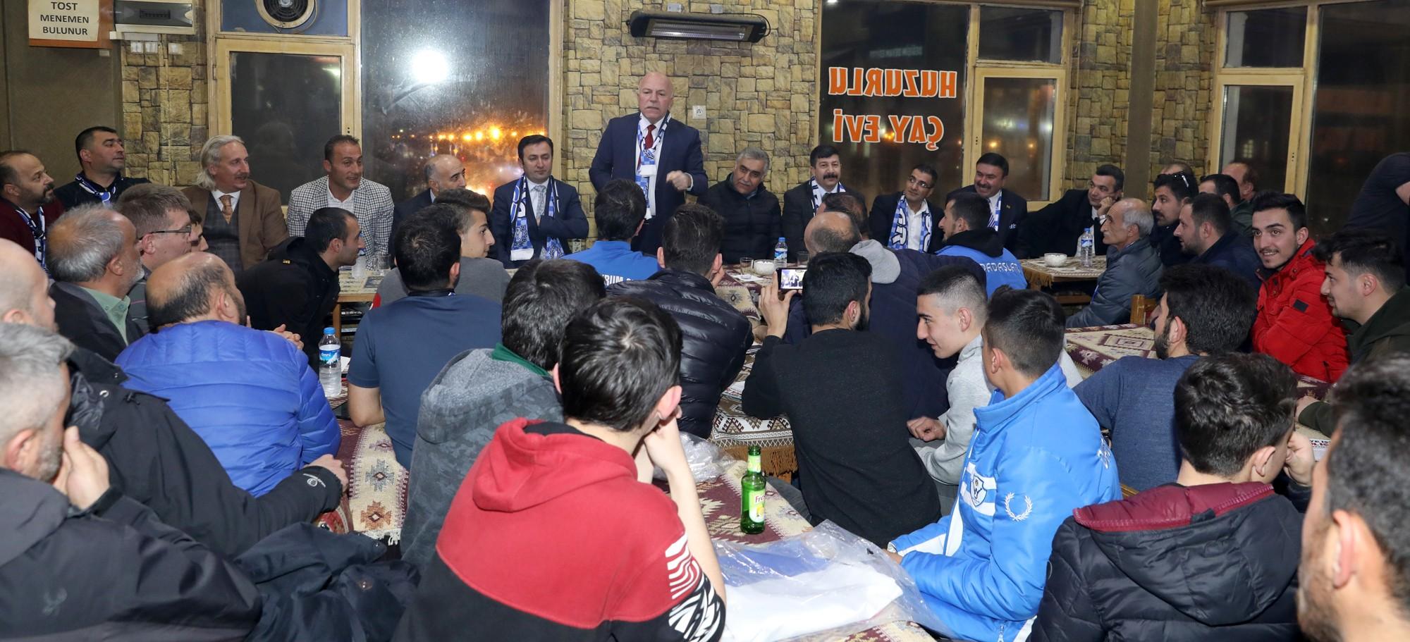 Başkan Sekmen Erzurumspor taraftarlarıyla buluştu